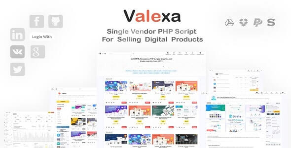 Valexa 200 PHP Script For Selling Digital Products And