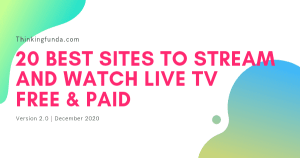 20 Best Sites to Stream and Watch Live TV 2