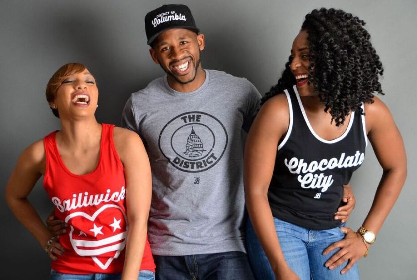 Bailiwick Clothing Company co-founder, JC Smith (center) with friends