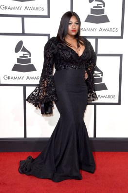 LOS ANGELES, CA - FEBRUARY 15: Singer Jazmine Sullivan attends The 58th GRAMMY Awards at Staples Center on February 15, 2016 in Los Angeles, California. (Photo by Jason Merritt/Getty Images for NARAS)