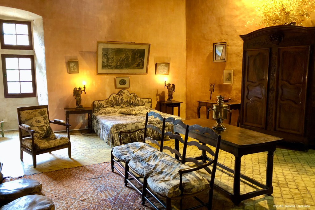 Bedroom in the Chateau in Lourmarin