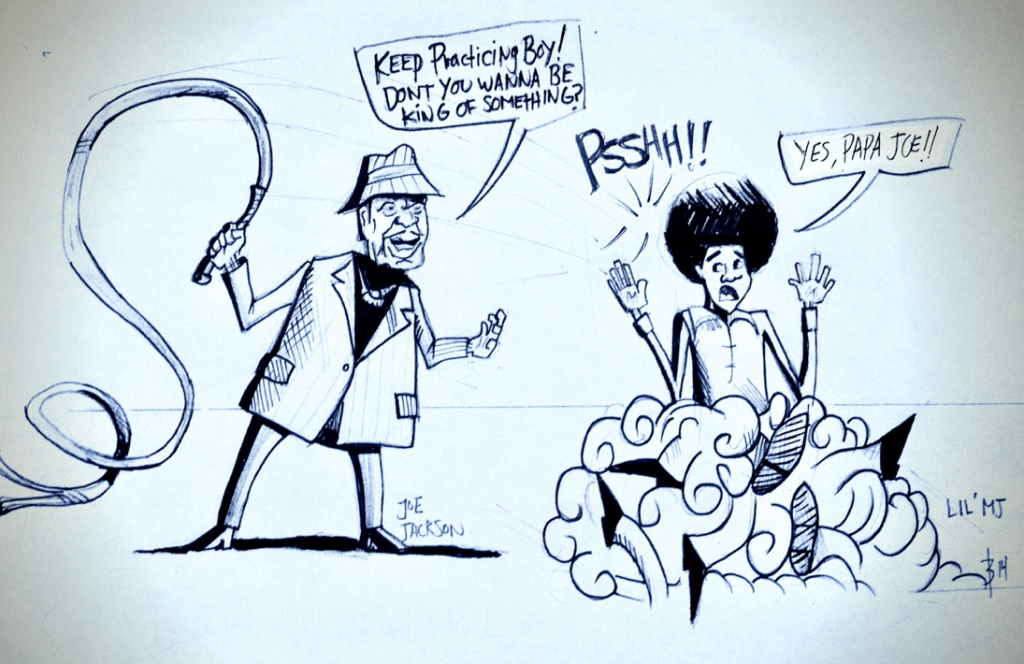 Cartoon joe and michael jackson