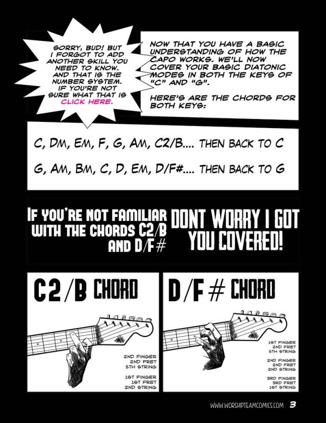 Guitar Capo Secrets Part 2 - Worship Team Comics