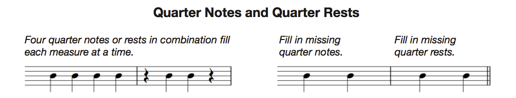 quarter notes and rests