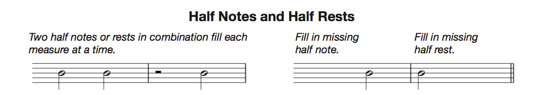 half notes and rests