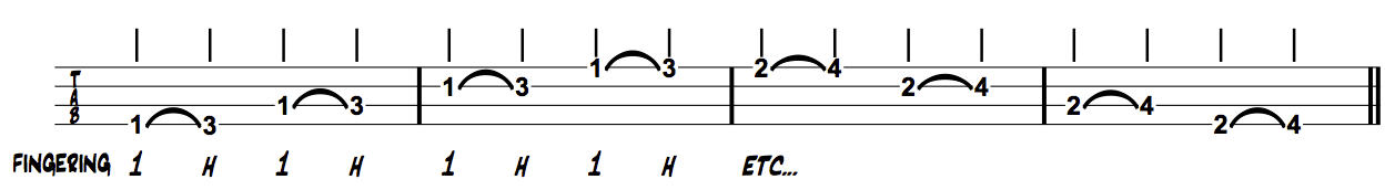 Thinking Muaician Bass Index Index Hammer on Exercises