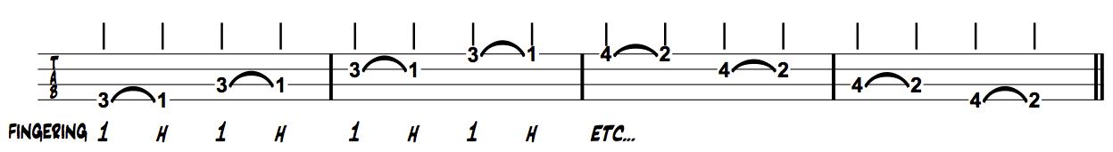Thinking Muaician Bass Ring Index Hammer on Exercises