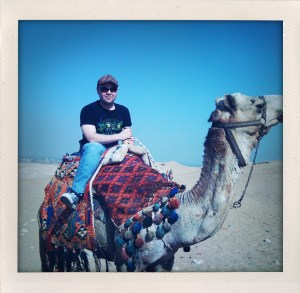 Roland in Egypt Riding the Camel