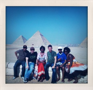Roland and the Nikki Crawford Band in the Giza Pyramids