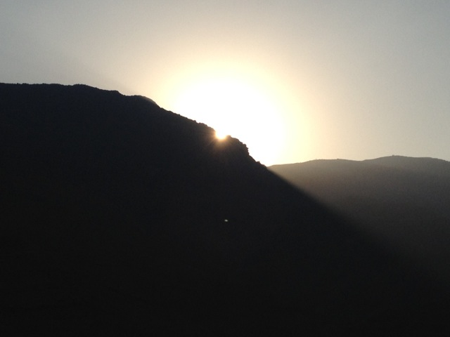 Sunset over Ras Al Khaimah