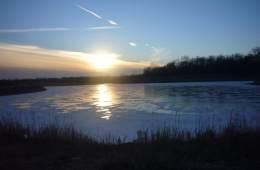 Frozen lake near Chicago