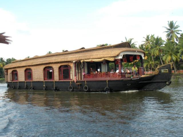 The backwaters in Alleppey