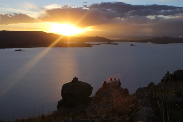Sunset on Lake Titicaca