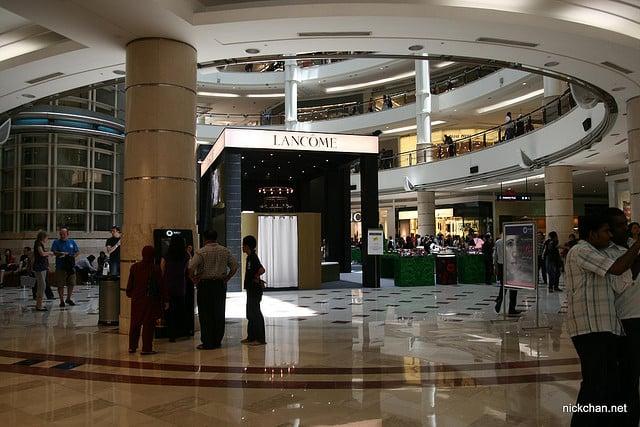 Kuala Lumpur, an ATM in a shopping mall (photo by Nicholas Chan)