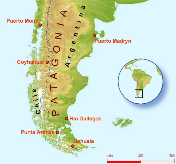 Heading South Travelling To America: Map Of South America Patagonia At Codeve.org