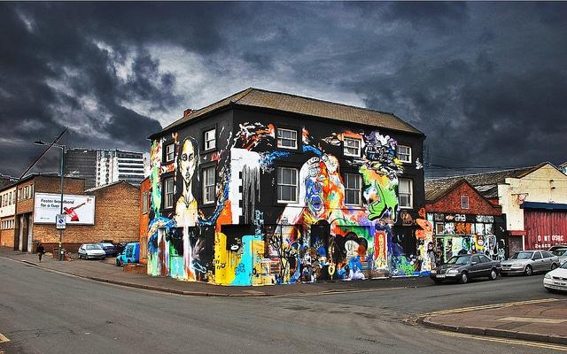 Painted house in Birmingham - UK
