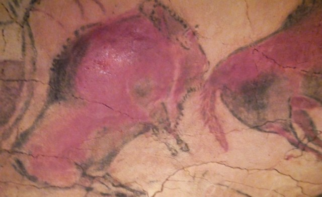 One of the many paintings in the Altamira caves