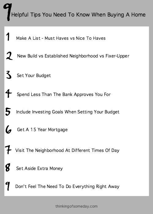 9 Helpful Tips You Need To Know When Buying A Home
