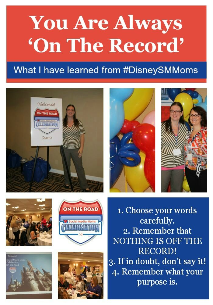 You Are Always 'On The Record' #DisneySMMoms