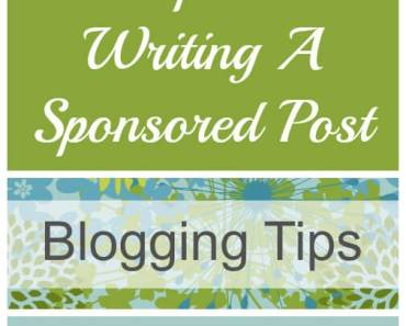5 Tips For Writing A Sponsored Post