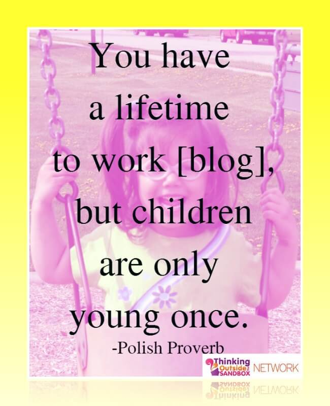 Keeping what is most important in focus whey balancing blogging and summer and kids