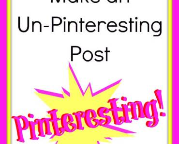 How do make a pictures that can be pinned for informational, inspirational, or family posts.