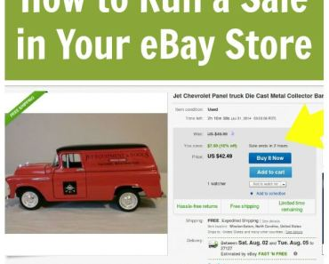 How to Run a Sale in Your eBay Store