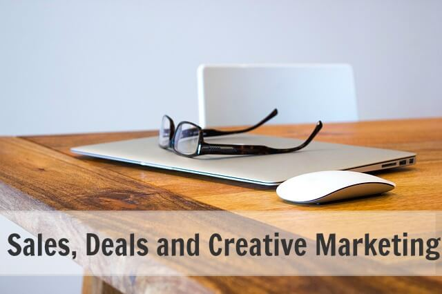 Sales, Deals and Creative Marketing