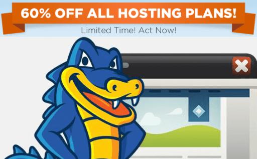 60% off All Hosting Plans with HostGator