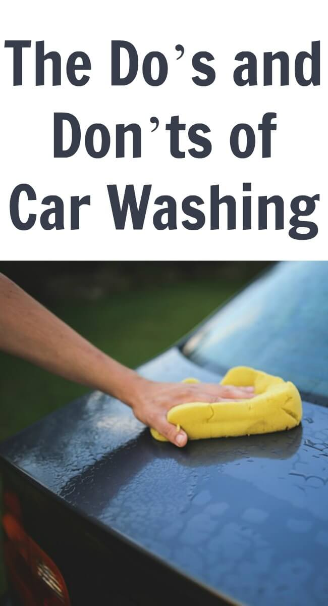 The Do's and Don'ts of Car Washing
