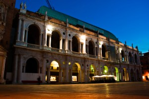 Town hall and market in Vicenza a centre for ladies fashion in northern Italy comparable with Wilmslow and Dingle