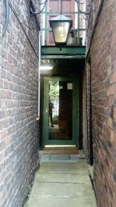 Entrance to the Button Warehouse Macclesfield from Chestergate
