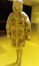 Raincoat with pockets for litter. The Japanese House