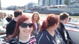 I was trying to get photos with my friends, the two people sitting next to me - when the lady behind me thought she'd join in!
