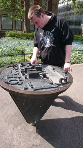 My friend, pointing out where the Shard should be on this model he spotted.