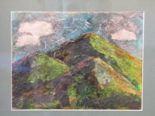 """Three Green Peaks"" Betsy Peirce, collage"