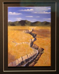"""""""It's Right There at the Bend"""" Wayne McKenzie, acrylic"""