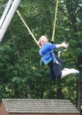 Abby having fun
