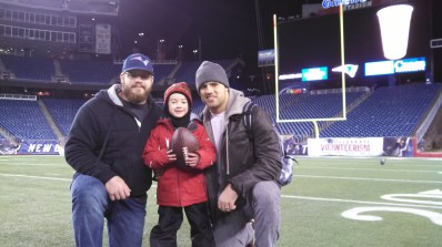 Ryan Wendell(#62), Me and James Develin(#46)