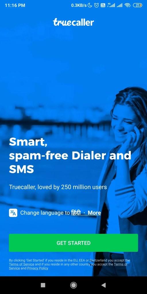 truecaller mod apk homepage