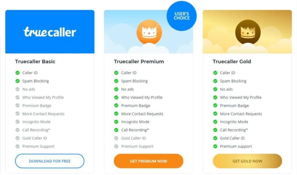 truecaller premium gold features