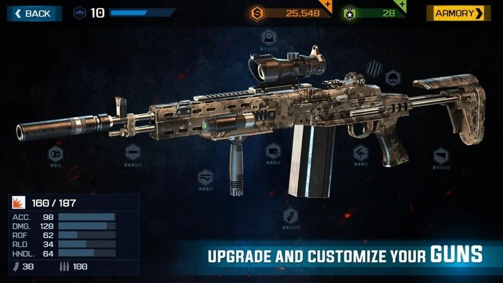 customise your weapons