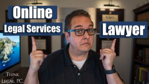 man_pointing_to_online_legal_service_vs_lawyer