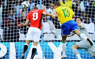 Mohamed Zidan scoring in Brazil - FIFA Confederations Cup 2009
