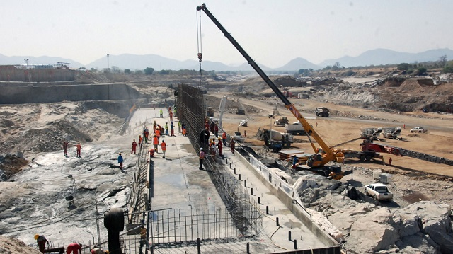 Ethiopia started to divert the flow of the Blue Nile river to construct a giant dam