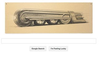 Google doodle –Raymond Loewy train design- 5th of November 2013