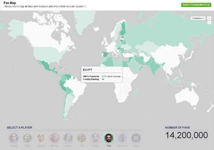 Facebook interactive map  top players are located around the world