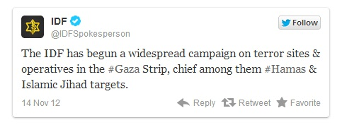 IDF tweet linked
