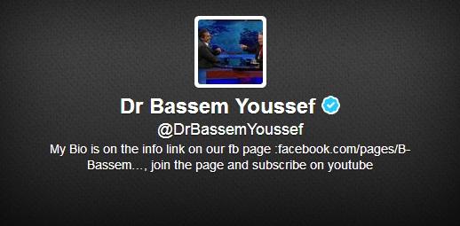 @DrBassemYoussef (Dr Bassem Youssef)