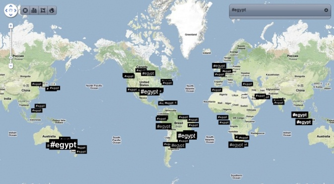 #Egypt 7am 1 Feb 2011 According to Trendsmap